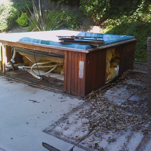 hot tub removal and installation - Junk Removal Service Douglaston Beach Queens ny